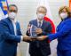 Defensa Civil reconoce embajador de Japón por sus aportes a la protección civil  en la República Dominicana