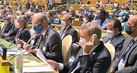 Presidente Abinader asiste a apertura de debate general en la ONU
